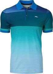 Kjus Spot Printed Férfi Golfpóló 2020 Bermudas Blue