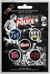 The Police Various Button Badge Set