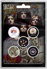 Queen Early Albums Button Badge Set