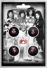 Queen Faces Button Badge Set