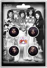 Queen Faces Button Badge Set