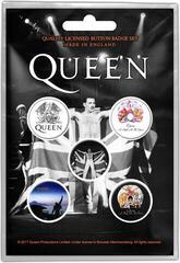 Queen Freddie Button Badge Set