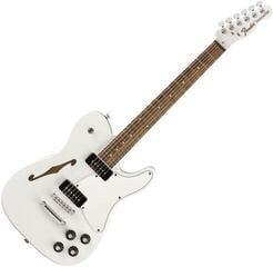 Fender Jim Adkins JA-90 Telecaster Thinline IL Biała