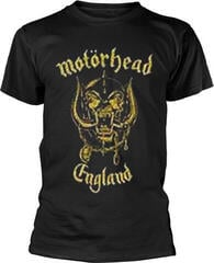 Motörhead Motorhead England Classic Gold T-Shirt Black