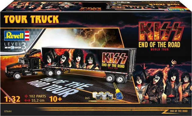 Kiss Tour Truck Model Gift Set