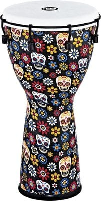 Meinl Alpine Series Synthetic Djembe 10'' Day of the Dead Finish