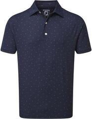 Footjoy Smooth Pique Mens Polo Shirt Navy/Iced Berry