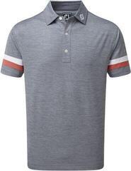 Footjoy Smooth Pique Space Dye Mens Polo Shirt Slate/Coral/White M