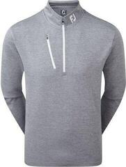 Footjoy Heather Pinstripe Chill-Out Mens Sweater Slate/White