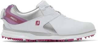 Footjoy Pro SL Womens Golf Shoes White/Silver/Rose