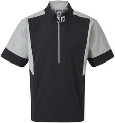 Footjoy HLV2 Short Sleeve Mens Rain Jacket Black/Heather Grey L