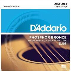 D'Addario EJ16 Phosphor Bronze Light 12-53 10 Pack