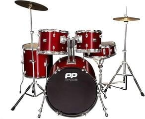 PP World 5 Piece Fusion Drum Kit Wine Red