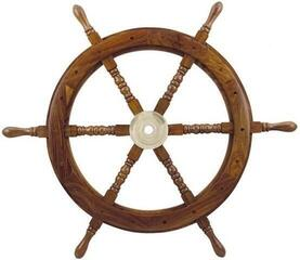 Sea-club Steering Wheel wood with brass Center - o 75cm