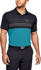 Under Armour Vanish Chest Stripe Mens Polo Shirt Black