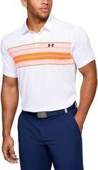 Under Armour Vanish Chest Stripe Mens Polo Shirt White