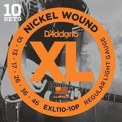 D'Addario EXL110-10P Nickel Wound Regular Light 10 Sets