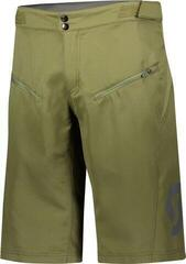 Scott Shorts Mens Trail Vertic w/pad Green Moss