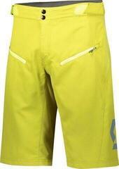 Scott Shorts Mens Trail Vertic w/pad Lemongrass Yellow
