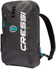 Cressi Fishbone Dry Backpack 25L Black/Light Blue