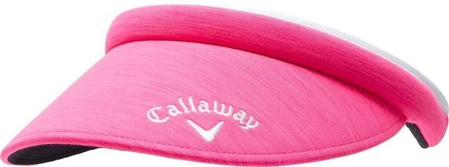 Callaway Womens Front Crested Structured Visor Pink Heather