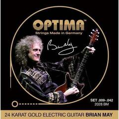 Optima 2028 BM 24K Gold Electrics Brian May Signature
