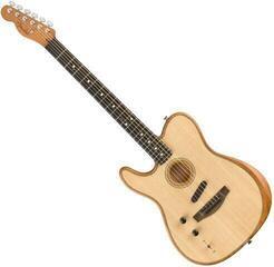 Fender American Acoustasonic Telecaster Natural LH