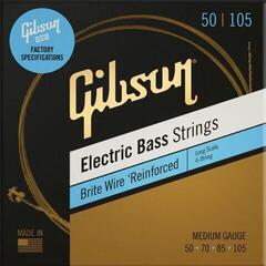 Gibson Long Scale Brite Wire Electric Bass StringsMedium