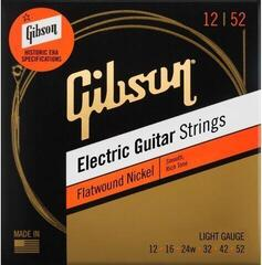 Gibson Flatwound Electric Guitar Strings Light