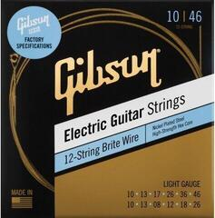 Gibson Brite Wire Electric Guitar Strings 12-String