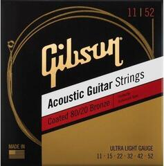 Gibson Coated 80/20 Bronze Acoustic Guitar Ultra Light Strings
