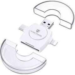 Viking SD/microSD Card Reader 4in1 White