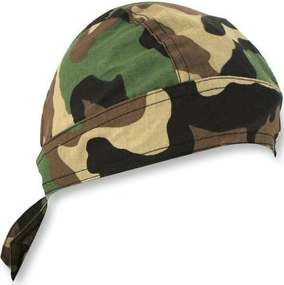 Zan Headgear Headwrap Flydanna Woodland Camo