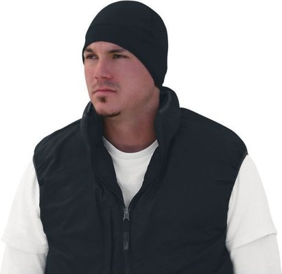 Zan Headgear Skull Cap Cold Weather Comfort Band Black