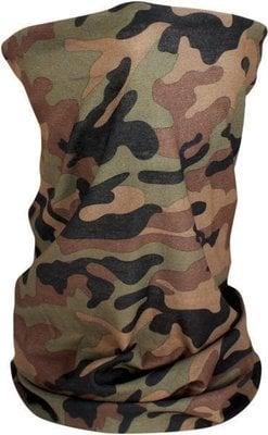 Zan Headgear Motley Tube Woodland Camo Fleece Lined