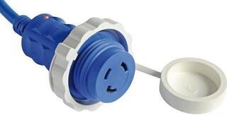 Osculati Plug + Cable 10m Blue 30A