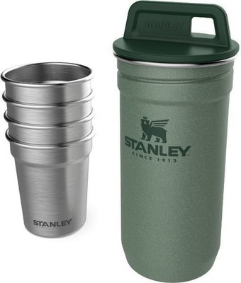 Stanley The Nesting Shot Glass Set Hammertone Green