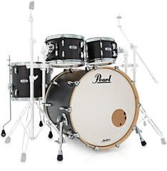 Pearl MCT904XEP Masters Complete Shell Set Matte Caviar Black