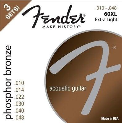 Fender 60XL Acoustic Phosphor Bronze 10-48 3 Pack