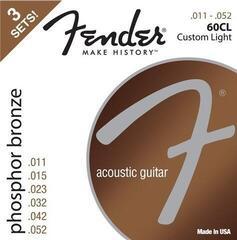 Fender 60CL Acoustic Phosphor Bronze 11-52 3 Pack