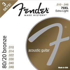 Fender 70XL Acoustic 80/20 Bronze 10-48 3 Pack