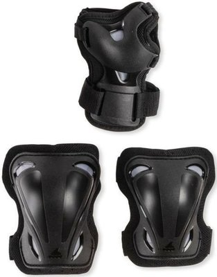 Rollerblade Skate Gear Junior 3 Pack Black XXS