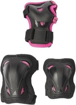 Rollerblade Skate Gear Junior 3 Pack Black/Pink XXS