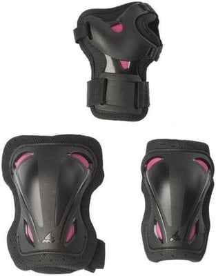 Rollerblade Skate Gear W 3 Pack Black/Raspberry L