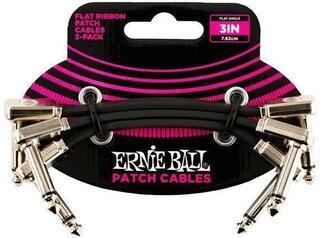 Ernie Ball Flat Ribbon Patch Cable Черeн/Ъглов - Ъглов