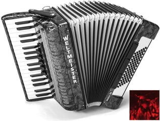 Weltmeister Achat 72 34/72/III/5/3 Red Piano accordion