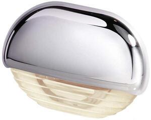 Hella Marine Warm White LED Easy Fit Gen 2 Step Lamp 12-24V DC Series 8560, Chrome Plated Plastic Cap