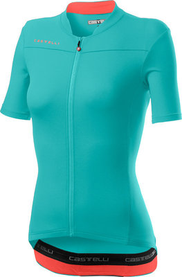 Castelli Anima 3 Womens Jersey Light Torquoise/Brilliant Pink M