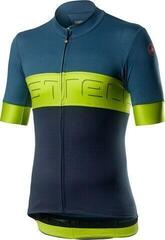 Castelli Prologo VI. Mens Jersey Light Steel Blue/Chartreuse/Dark Steel Blue