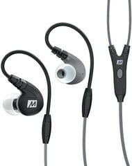MEE audio M7P Secure-Fit Sports In-Ear Headphones with Mic Black